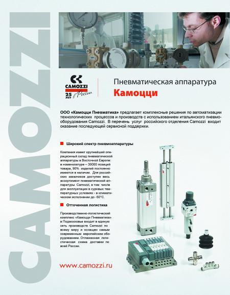 Рекламный модуль Камоцци Пневматика, ООО в печатном каталоге