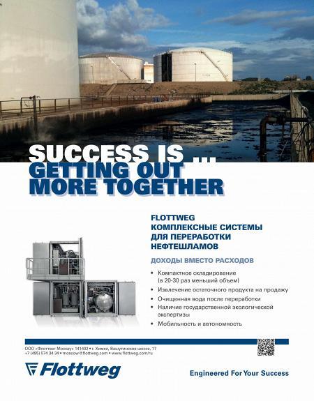 Рекламный модуль Flottweg в печатном каталоге