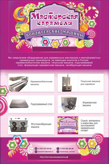 Рекламный модуль Мастерская карамели в печатном каталоге