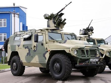 Бронеавтомобили «Тигр» с модулем «Арбалет-ДМ» начали поступать в войска