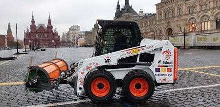 Наш любимец Bobcat S450 на Красной площади