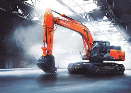 Российский завод Hitachi выпустил новую модель Hitachi ZX300-5A