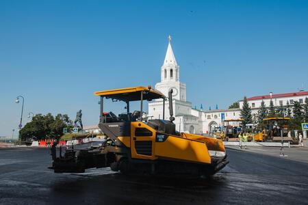Техника Volvo CE помогает создавать в Казани дороги европейского уровня