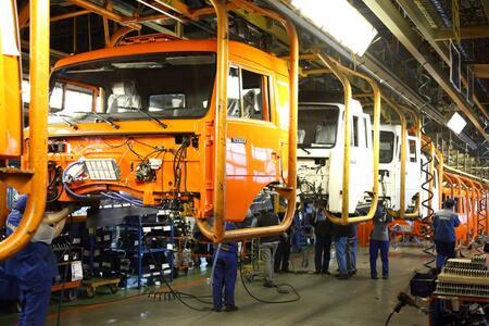 Окрасочный комплекс автомобильном на заводе