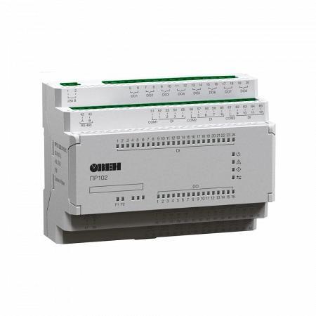 В продаже новые модификации программируемого реле ОВЕН ПР102 на 40 каналов ввода/вывода и питанием =