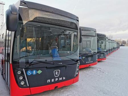 В адрес пассажироперевозчиков Перми передана партия автобусов производства ПАО «НЕФАЗ»