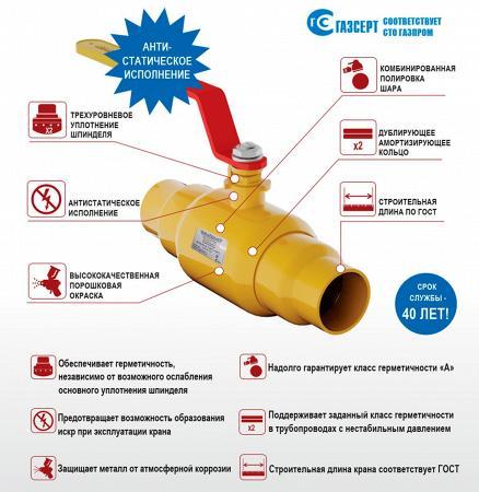 Газовые шаровые краны ЛЗТА