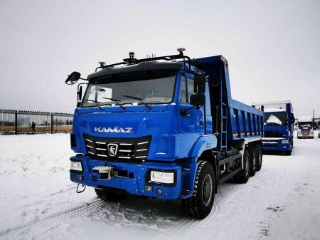 Компания КАМАЗ представила первый отечественный беспилотный самосвал