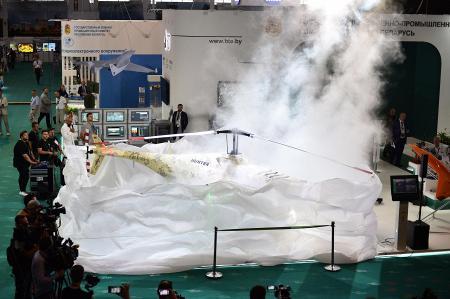 На выставке MILEX-2021 представили уникальный беспилотный вертолет «Hunter»