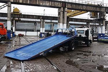 Эвакуатор со сдвижной платформой на базе японского грузовика HINO-500