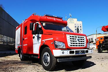 Первая пожарная автоцистерна на базе ГАЗон NEXT!