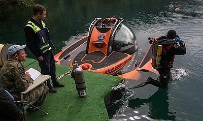 Экспедиция РГО изучает уникальное озеро Церик-Кель с помощью ТНПА Марлин