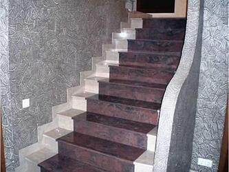 Лестничный декор из керамогранита