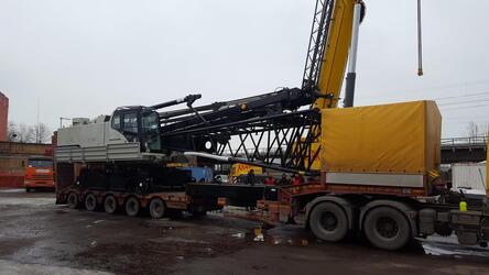 «Хит Машинери» осуществила поставку крана HSC для строительства эстакады на востоке Москвы