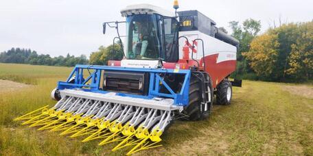 Инновационная жатка для уборки льна