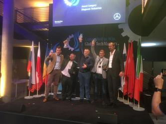 Диагност команды из России занял второе место на международном турнире GlobalTechMasters, Daimler AG