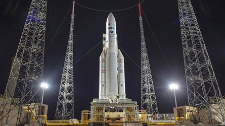 Запуск европейской ракеты Ariane 5 отложили на неопределенный срок за 20 минут до старта