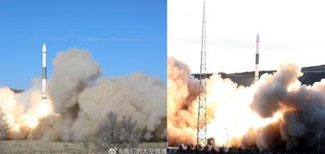 Китай проводит запуск двух ракет Kuaizhou-1A из Тайюаня