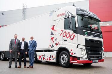 Volvo Trucks получила крупный заказ на 1800 Volvo FH для компании Girteka Logistics