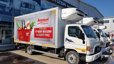 Автопарк сети супермаркетов «Верный» пополнили 23 грузовика Hyundai