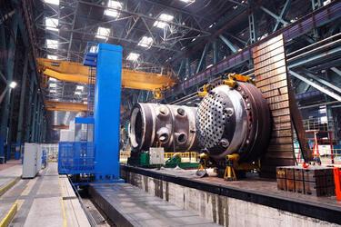 На Атоммаше впервые за 40 лет запущен фрезерно-расточной станок-гигант