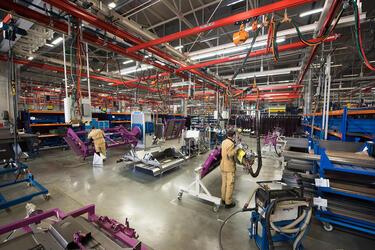 149 кранов Demag и Konecranes бесперебойно трудятся  на заводе «КЛААС» в Краснодаре