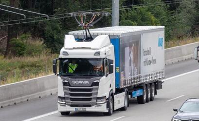 Новый гибридный грузовик Scania с запасом хода 60 км на электротяге