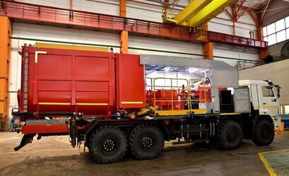 Ижевское предприятие выпустило новую модель установки для цементирования скважин на шасси КАМАЗ