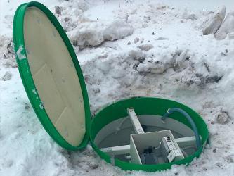Монтаж септиков Тополь зимой