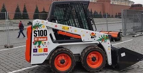 Мини-погрузчик Bobcat S100 для ГУМ-Ярмарки