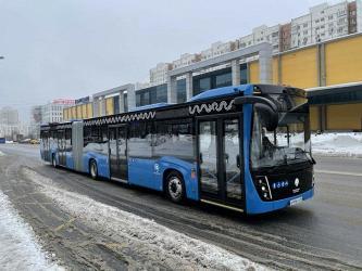 В Москву прибыл первый автобус КамАЗ новой модели особо большой вместимости