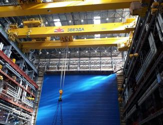 «Уралмашзавод» поставил два новых мостовых крана на строящуюся верфь ССК «Звезда» в Приморье