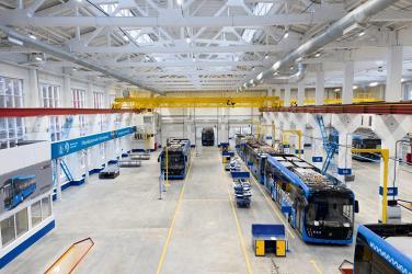 В Москве открыто новое сборочное производство электробусов КамАЗ