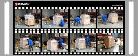 Технология подбора упаковочного материала при упаковке паллет термоупаковочным пистолетом RIPACK
