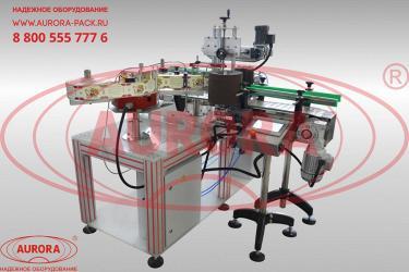 Обзор на двухпоточную линию для одновременного этикетирования цилиндрических и плоских флаконов АЭ-5