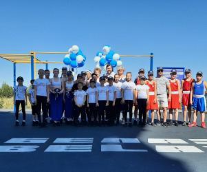 Новая спортивная площадка БЕЛАЗ открыта в Кузбассе