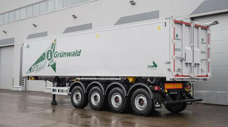 Новая модель алюминиевого самосвала компании Grunwald