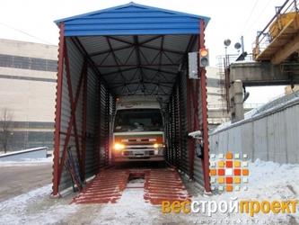 """Пост автоматизированного взвешивания грузовых автомобилей для ОАО """"Силовые машины""""."""