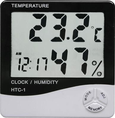 Индикатор температуры и влажности воздуха HTC-1