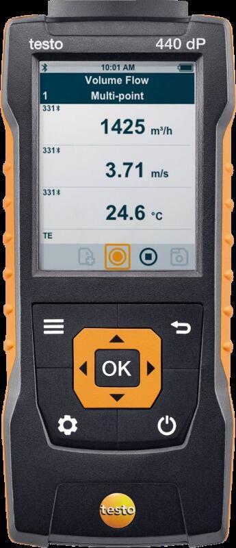 Прибор для измерения скорости и оценки качества воздуха в помещении Testo 440 dp (0560 4402)