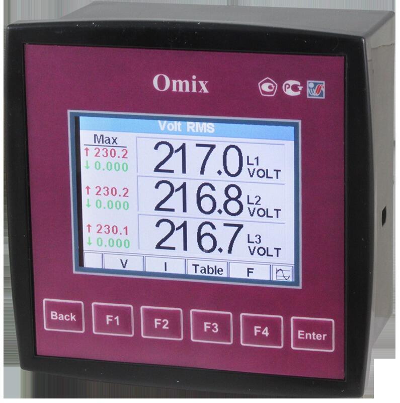 Анализатор параметров трехфазной сети щитовой Omix P99-MA-3