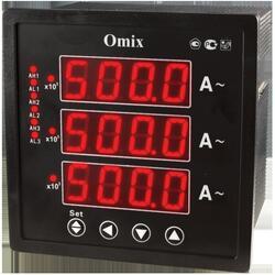 Амперметр трехфазный щитовой с релейным выходом Omix P99-AX-3-0.5-K