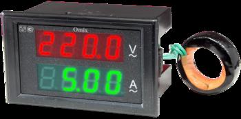 Вольтамперметр однофазный щитовой Omix P74-AV2-1