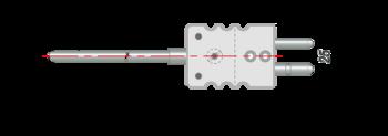 Термопара на основе КТМС с кабельным выводом дТП394
