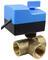 Кран шаровой трехходовой неполнопроходной с электроприводом и резервным ручным управлением AR800-3