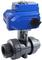 Кран шаровой пластиковый КПР-9 с электроприводом ЭПР1