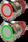 Кнопка металлическая 19 мм антивандальная с подсветкой AR-SD16-BM19001.FR