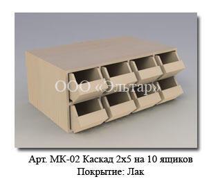 Каскад 2х5 для демонстрации крепежа и мелкой фурнитуры