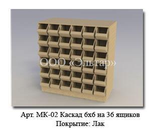 Каскад 6х6 для демонстрации крепежа и мелкой фурнитуры