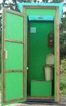Туалет для дачи «БРИЗ» 810х1000 мм, стены – ОСП-3 (влагостойкая плита)